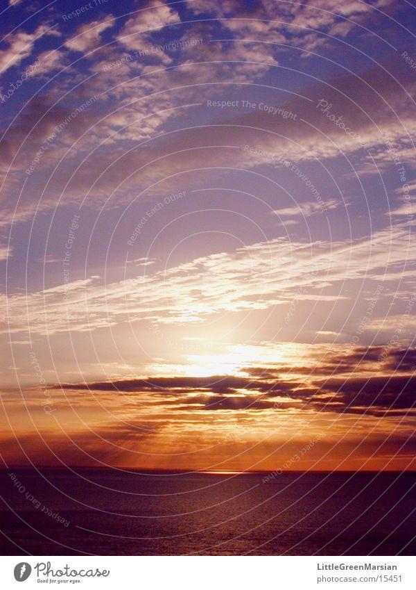 sunset 02 Himmel Sonne Wolken Farbe