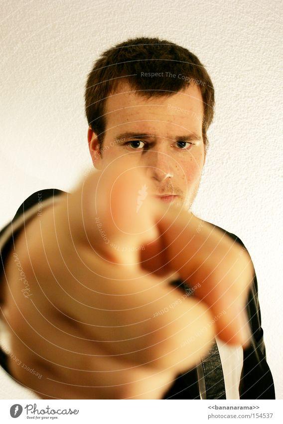 Tu es! Tu es! Finger Befehl Vorgesetzter Arbeit & Erwerbstätigkeit zeigen wählen Zwang Hand Anzug Krawatte Macht Mann I want you Du Pointer Kopf