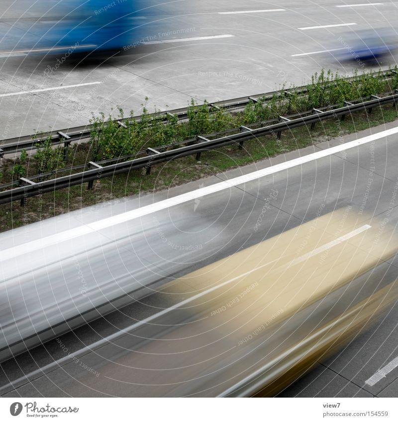 Autobahn Ferien & Urlaub & Reisen Straße PKW Umwelt Verkehr Geschwindigkeit KFZ fahren Güterverkehr & Logistik Reisefotografie Streifen Lastwagen Verkehrswege
