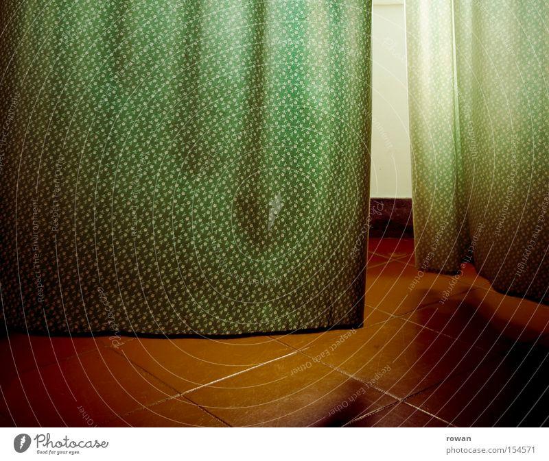 grünrot Fenster Wind Fliesen u. Kacheln Stoff Vorhang Gardine wehen Natur Brise