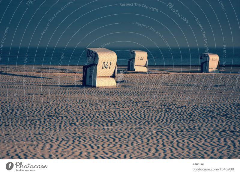unsortierte Abendromantik am Meer Erholung Ferien & Urlaub & Reisen Freiheit Sonnenaufgang Sonnenuntergang Schönes Wetter Strand Nordsee Strandkorb kuschlig