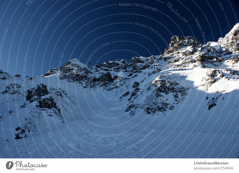 Casanna II Himmel Winter Schnee Berge u. Gebirge Eis Felsen Alpen Schweiz Skipiste Davos Parsenn