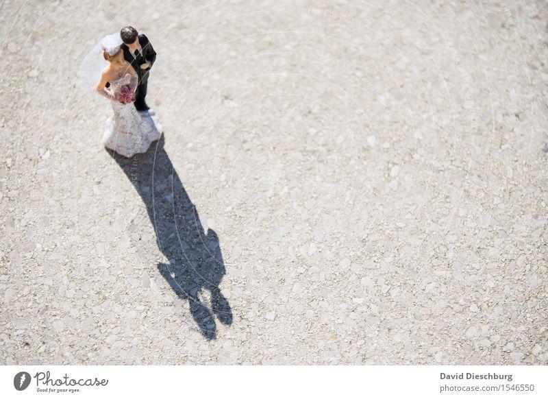 """Auf ein """"Ja-Wort"""" treffen Hochzeit maskulin feminin Frau Erwachsene Mann Paar Partner Körper Frühling Sommer Schönes Wetter Kleid Anzug Glück Fröhlichkeit"""
