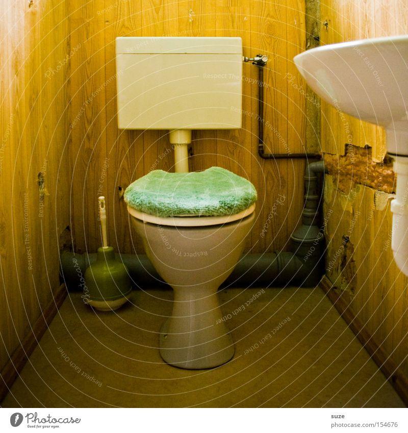 Tagungsraum retro Bad Toilette Geschirr obskur Waschbecken Zone spülen Toilettenpapier Toilettenbürste