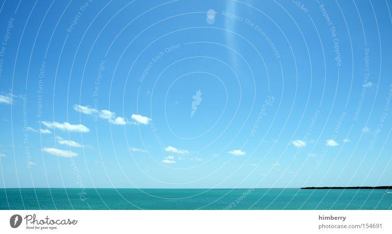 schönwetterfront Ferien & Urlaub & Reisen Insel Inseln Paradies Wasser Meer Himmel Wolken träumen Panorama (Aussicht) caribic groß