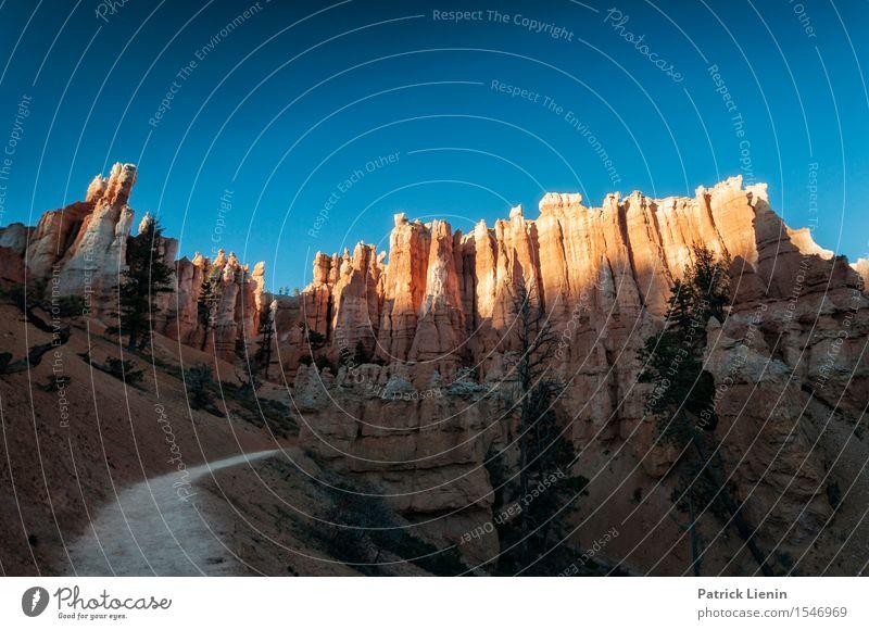 Bryce Canyon Ferien & Urlaub & Reisen Tourismus Ausflug Abenteuer Ferne Expedition Sommer Berge u. Gebirge wandern Umwelt Natur Urelemente Himmel