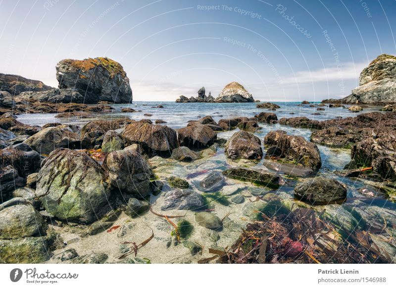 Big Sur Himmel Natur Ferien & Urlaub & Reisen Sommer Meer Landschaft Erholung Wolken Strand Umwelt Wärme Küste Freiheit Felsen Tourismus Zufriedenheit