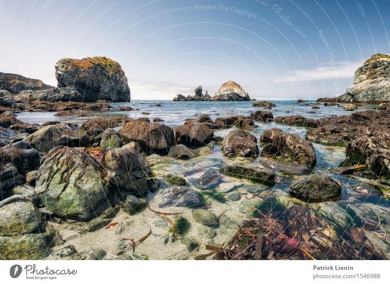 Big Sur Wellness Zufriedenheit Sinnesorgane Erholung Ferien & Urlaub & Reisen Tourismus Abenteuer Freiheit Sommer Strand Meer Umwelt Natur Landschaft Himmel