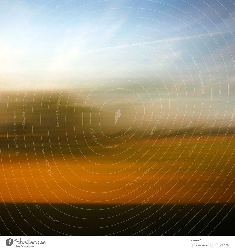 Reise ll Farbe Hintergrundbild abstrakt Belichtung Geschwindigkeit Horizont Himmel Sommer Schönes Wetter fahren Blick vergangen Streifen Langzeitbelichtung