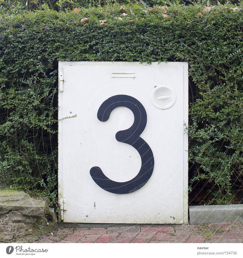 Dreierkasten grün Arbeit & Erwerbstätigkeit Garten 3 Telekommunikation Ziffern & Zahlen Kasten E-Mail Pflastersteine Hecke Hausnummer Vorgarten Verteiler