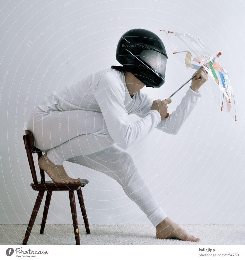 schirm, charme und melone Mensch weiß Geschwindigkeit Sicherheit Regenschirm Sonnenschirm Schirm Motorrad Unterwäsche Helm Teppich Turnen Farbe Angeben