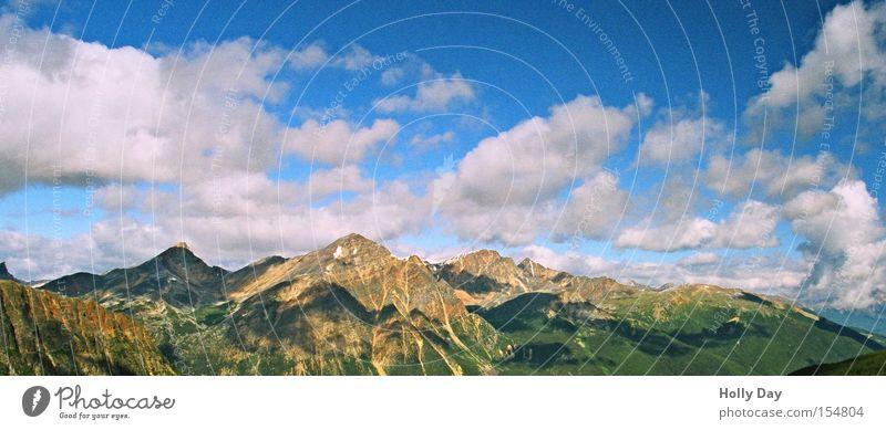Aussicht von Edith Himmel Wolken Ferne Berge u. Gebirge Freiheit Glück Gipfel Kanada Gletscher Nationalpark Alberta Rocky Mountains Jasper