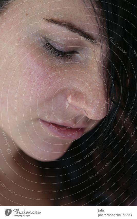 sensual Frau Gesicht Auge feminin Gefühle Mund Hoffnung Momentaufnahme Zärtlichkeiten