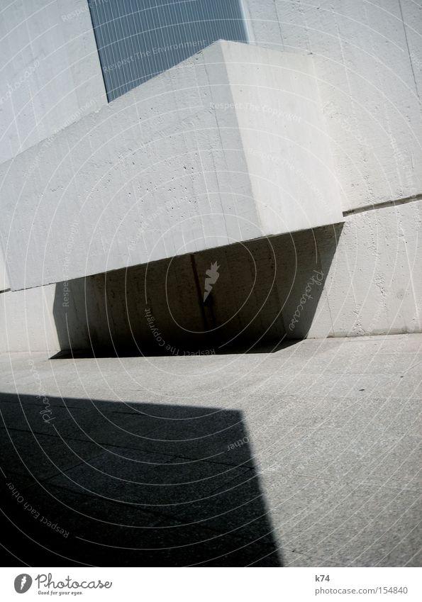 geocity kalt Architektur Beton frisch modern Ecke Klarheit Geometrie hart Block Kubismus