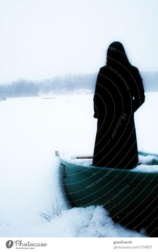 am see schön Winter Schnee See Eis Wasserfahrzeug Kunst Romantik mystisch Fantasygeschichte Kunsthandwerk Grufti