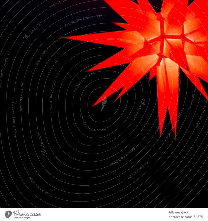 Krasnaja Swesda Weihnachten & Advent rot Beleuchtung Feste & Feiern Stern (Symbol) Licht Dekoration & Verzierung Spitze verschönern Feiertag Zacken