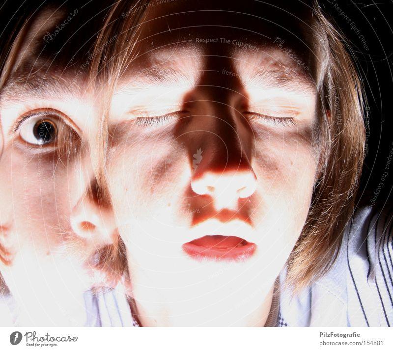 The Strange Case of Dr. Jekyll and Mr. Hyde Jugendliche Gesicht Auge Angst verrückt gut Krankheit Teilung böse Panik Doppelbelichtung Charakter Schizophrenie