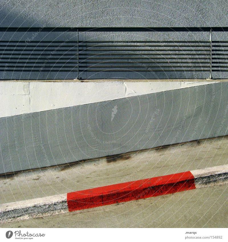 Gateway Farbfoto Außenaufnahme Stil Design Architektur Verkehr Verkehrswege Straße Linie Streifen Coolness dreckig Straßenverkehrsordnung Grafik u. Illustration