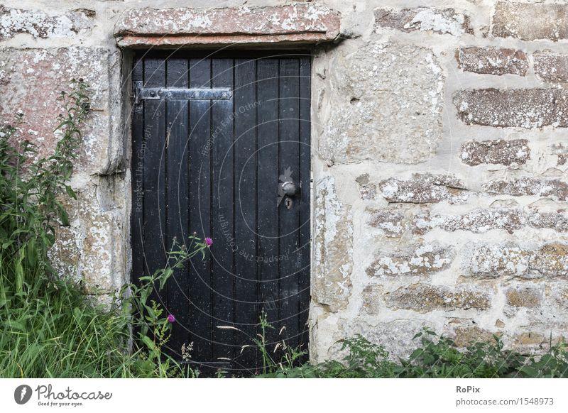 rural alt Pflanze grün Erholung Einsamkeit Haus schwarz Umwelt Wand Architektur natürlich Gras Gebäude Mauer Garten Stein
