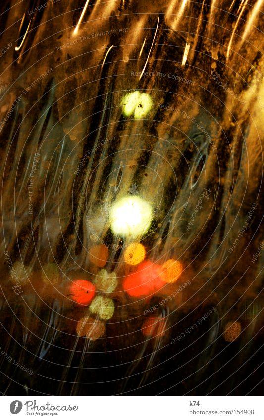 liquid lights II liquide Flüssigkeit fließen Farbe Reflexion & Spiegelung Nacht Beleuchtung Strahlung Straße Punkt mehrfarbig diffus Freude Verkehrswege Aerosol
