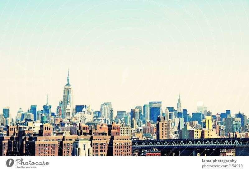 Business City New York City Manhattan USA Gesellschaft (Soziologie) Arbeit & Erwerbstätigkeit Hochhaus Empire State Building Skyline Haus Stadt Futurismus