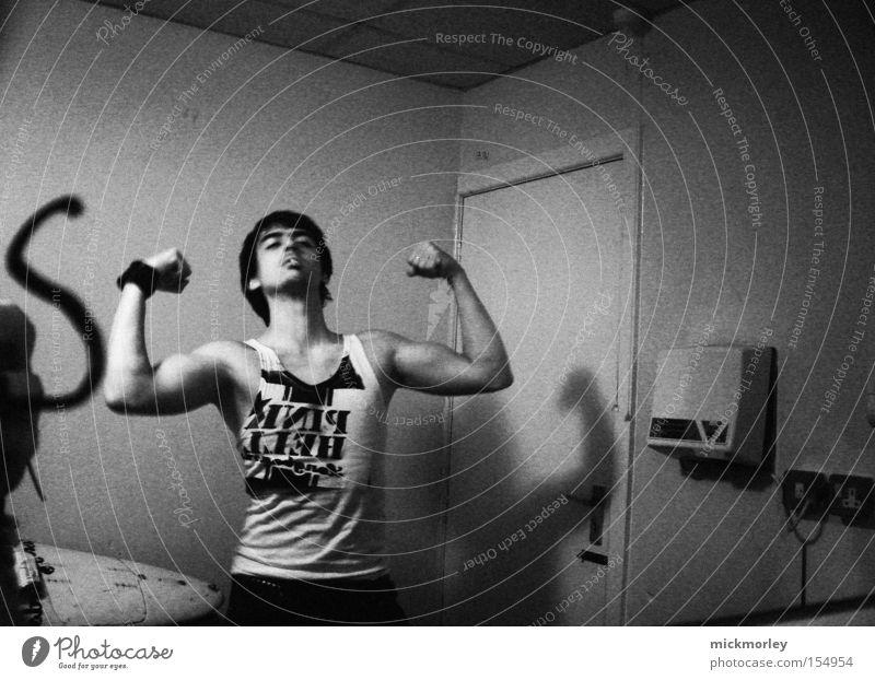 Rebel Rob stark Körperhaltung Raum Örtlichkeit Show Tonband Ferien & Urlaub & Reisen Spiegel Muskulatur England Rockmusik Freude Experiment Örtlichkeiten