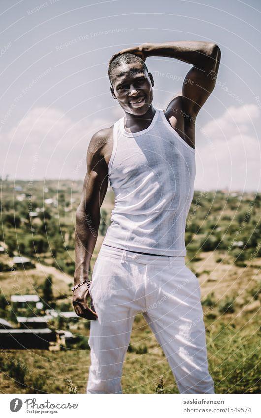 Three. Mensch Natur Jugendliche Mann schön Junger Mann Erotik Landschaft Erwachsene Umwelt Sport Lifestyle Mode maskulin Körper ästhetisch