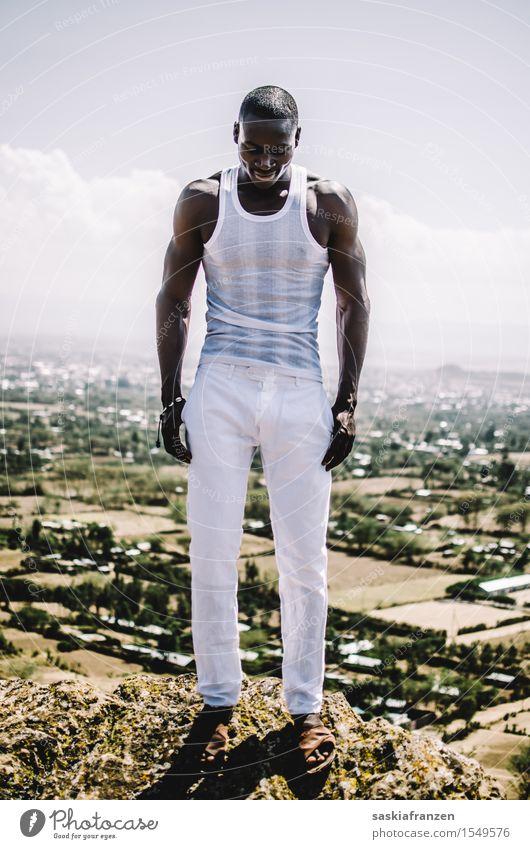 Two. Lifestyle schön Fitness Sport-Training Mensch maskulin Junger Mann Jugendliche Erwachsene Körper 1 Umwelt Natur Landschaft Mode Bekleidung ästhetisch