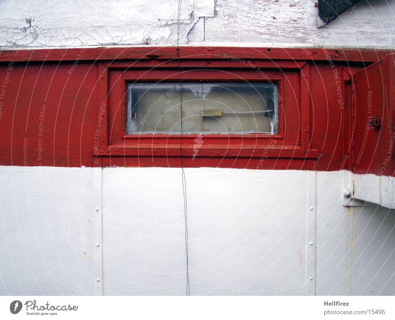 Küstenimpression alt weiß rot Leuchtturm
