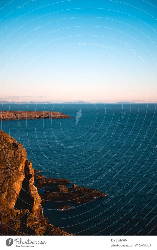 Küste Großbritanniens Natur Ferien & Urlaub & Reisen schön Sommer Wasser Sonne Meer Landschaft ruhig Ferne Umwelt Küste Freiheit Felsen Tourismus wandern