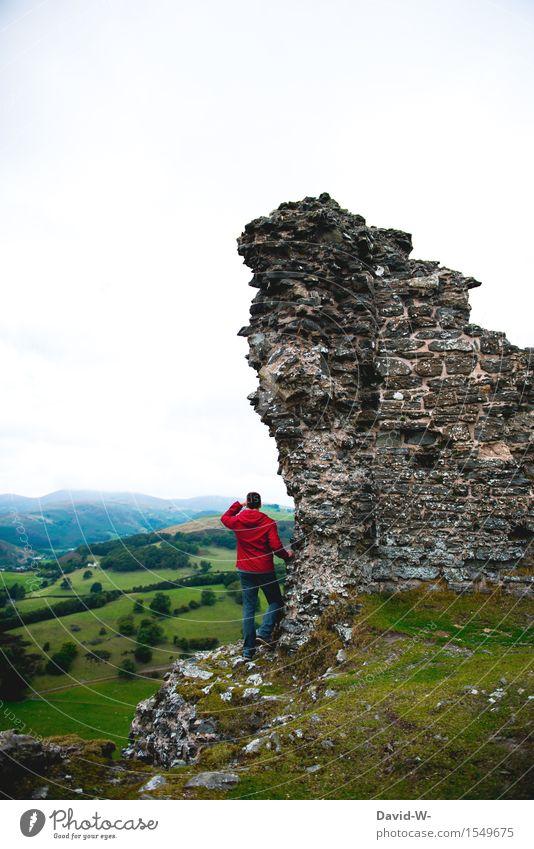 Späher Ferien & Urlaub & Reisen Tourismus Ausflug Abenteuer Ferne Freiheit Berge u. Gebirge wandern Mensch maskulin Junger Mann Jugendliche Erwachsene Leben 1
