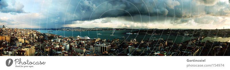 Istanbul Himmel Meer Stadt Wolken Traurigkeit Gebäude Landschaft Küste Europa modern Kultur Hafen Lebensfreude historisch Gewitter