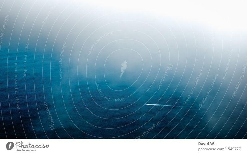 über den Wolken Mensch Natur Ferien & Urlaub & Reisen blau schön Sommer Wasser Meer Ferne Umwelt Leben Freiheit Tourismus Nebel Luft