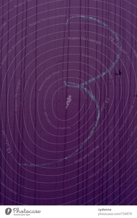 Aller guten Dinge sind 3 Ziffern & Zahlen Symbole & Metaphern Handschrift Kreide Gemälde zeichnen Kommunizieren Streifen violett Farbe Bedeutung Detailaufnahme