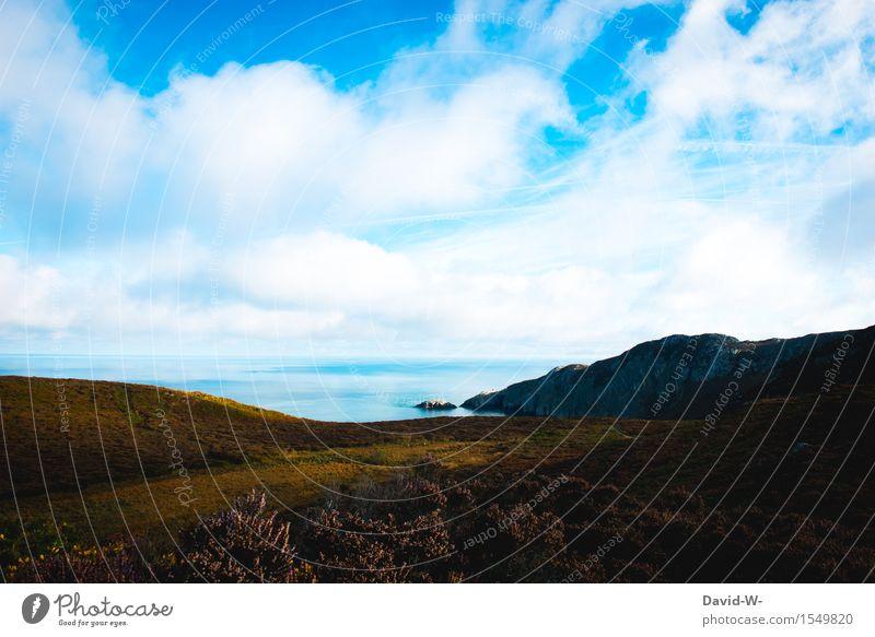 Natur Ferien & Urlaub & Reisen schön Sommer Sonne Meer Landschaft ruhig Ferne Umwelt Herbst Küste Freiheit Tourismus wandern Ausflug