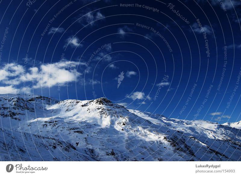 Les 3 Vallées Himmel Ferien & Urlaub & Reisen blau weiß Wolken Winter kalt Berge u. Gebirge Schnee Eis Gipfel Alpen Frankreich