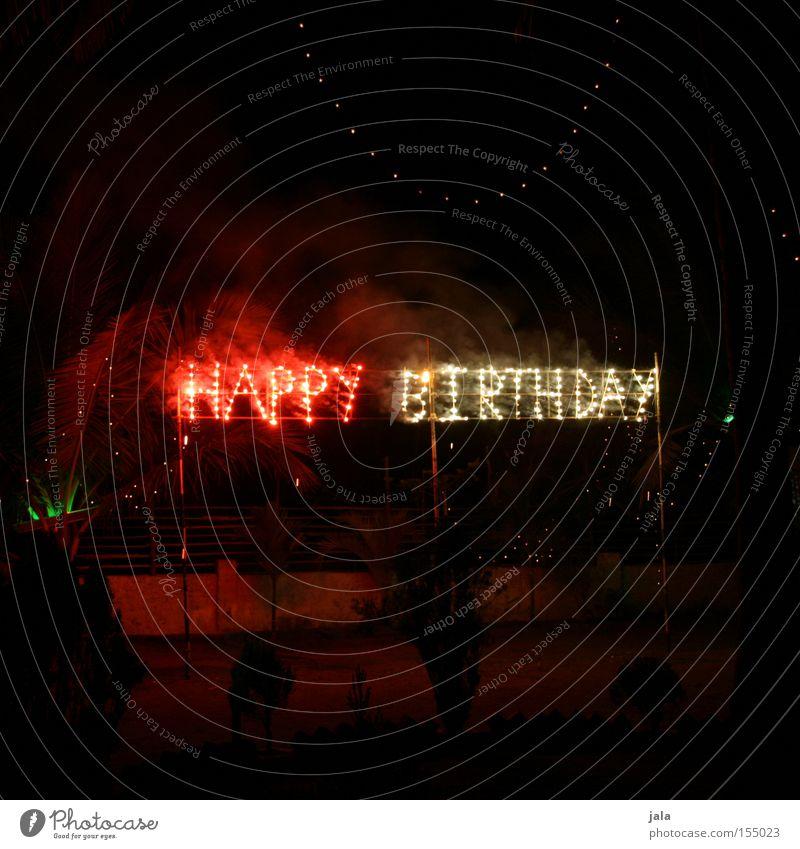 HAPPY BIRTHDAY Anlass zünden Feuerwerk Geburtstag Licht Happy Birthday 100 Jubiläum Alles Gute Feste & Feiern Freude Gratulation Pyrotechnik Buchstaben Party