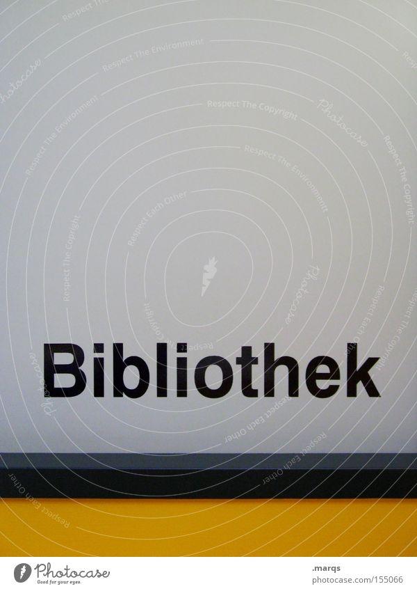 Bibliothek Farbfoto Gedeckte Farben Innenaufnahme Textfreiraum oben Totale Bildung Wissenschaften Erwachsenenbildung Studium Hochschullehrer Schriftzeichen