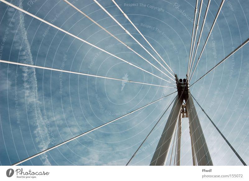 Knotenpunkt Architektur Zufriedenheit Ordnung Seil Brücke Sicherheit Netzwerk Baustelle Kommunizieren Güterverkehr & Logistik Konzentration Kontakt Verbindung Partnerschaft Draht