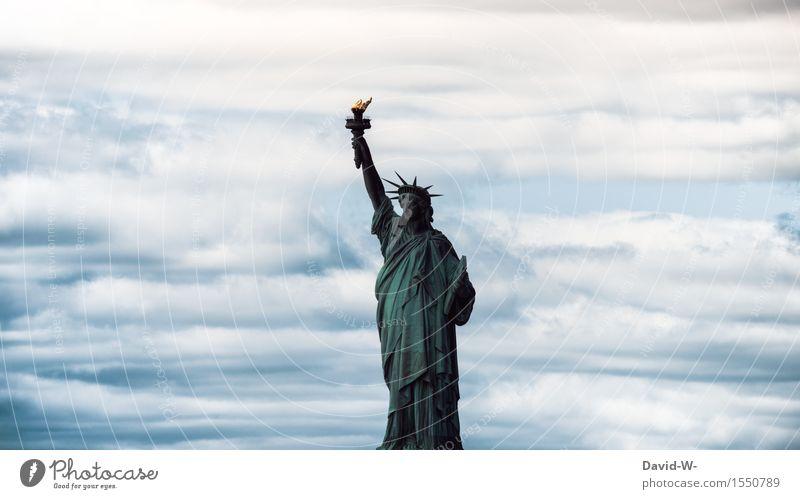 1886 Lady Liberty Bildung Mensch Frau Erwachsene Leben Kultur Wolken Schönes Wetter Skyline überbevölkert Bauwerk Freiheitsstatue alt frei Amerika Frankreich