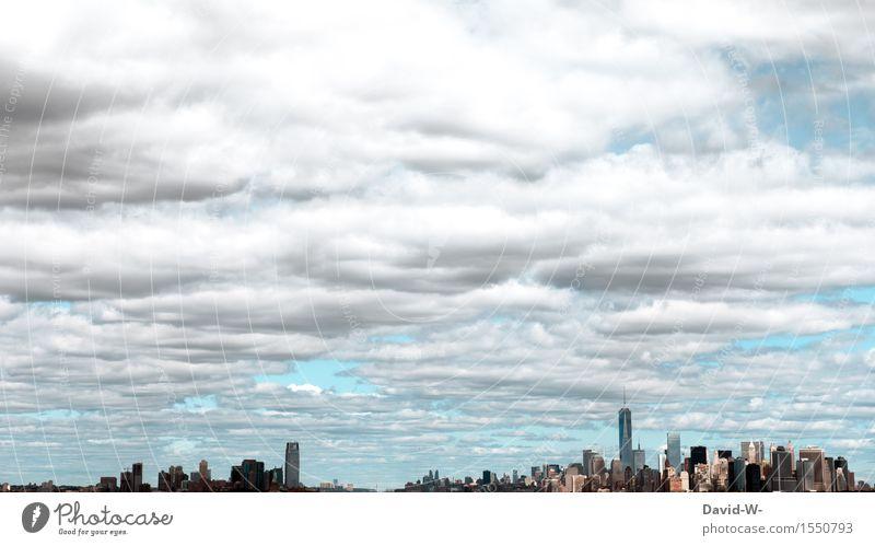 NYC - miniatur Ferien & Urlaub & Reisen Tourismus Städtereise Leben Kultur Wolken Sommer Schönes Wetter Stadt Stadtrand Skyline überbevölkert Hochhaus Gebäude