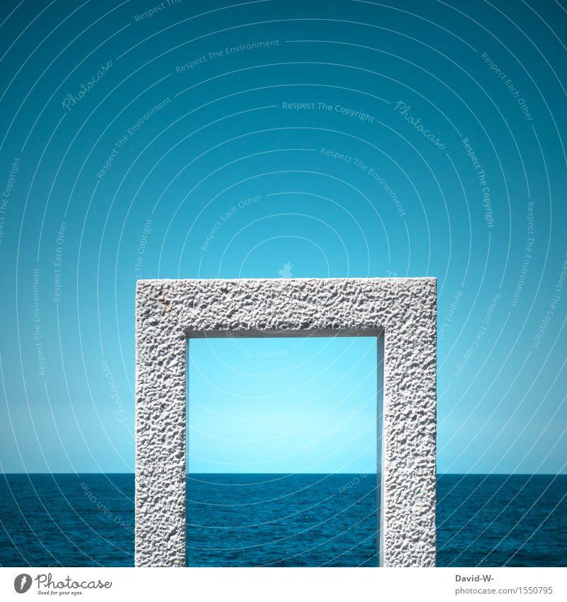 eintauchen Himmel Natur blau Wasser Meer Umwelt Wand Mauer Kunst Tür nass Kultur geheimnisvoll Unendlichkeit entdecken türkis