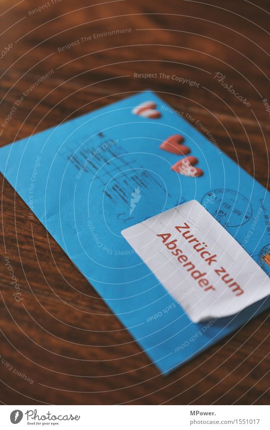 brief 6 Holz Herz Schreibstift zurück Valentinstag Liebe Verliebtheit dünn Brief schreiben Absender Post Postkarte Tisch Liebesbrief blau Füllfederhalter