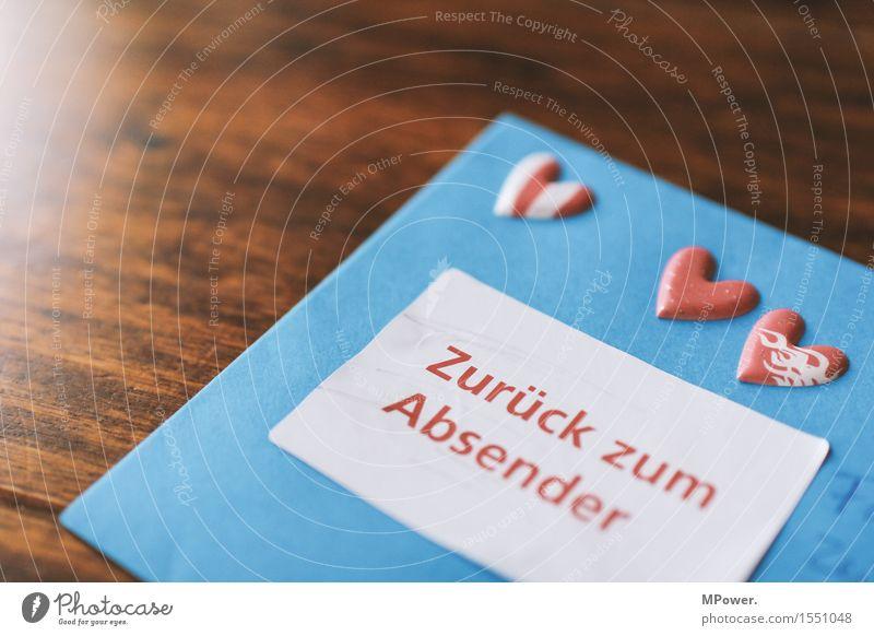 brief 7 Holz Herz Schreibstift zurück Valentinstag Liebe dünn Brief schreiben Absender Post Postkarte Tisch Liebesbrief blau Füllfederhalter Kommunizieren