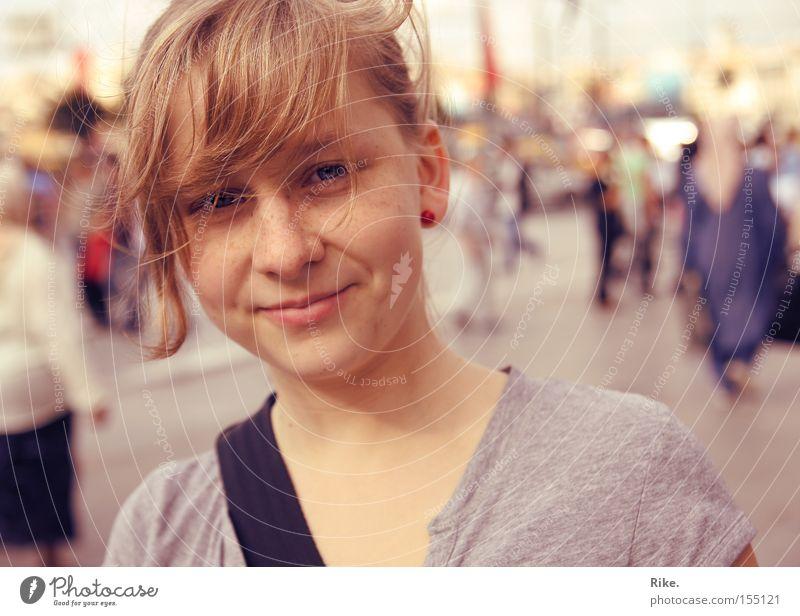 Tolle Freundin. Frau Jugendliche schön Sommer Freude Gesicht Ferien & Urlaub & Reisen lachen blond Porträt ästhetisch authentisch