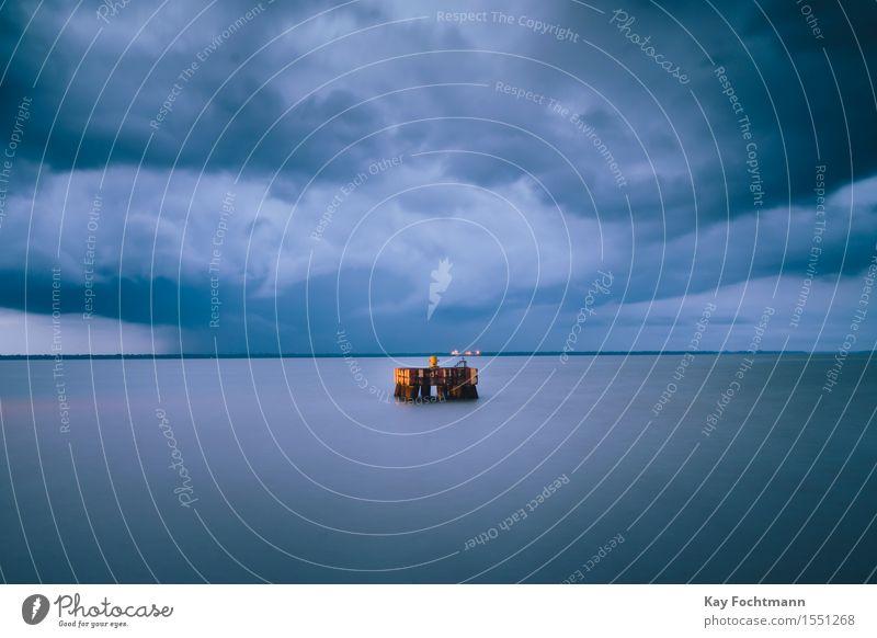 ° Himmel Sommer Wasser Meer Wolken Umwelt Küste Energiewirtschaft Zukunft Klima Baustelle Unwetter Stress Sturm nachhaltig Gewitter