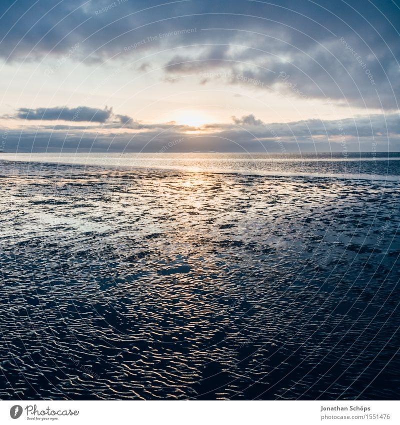 Norddeich III Natur Wasser Himmel Himmel (Jenseits) Wolken Sonnenuntergang Küste Strand Nordsee Meer Endzeitstimmung Religion & Glaube untergehen blau Dämmerung