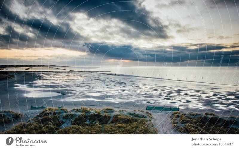 Norddeich IV Natur Wasser Himmel Himmel (Jenseits) Wolken Sonnenuntergang Küste Strand Nordsee Meer Endzeitstimmung Religion & Glaube untergehen blau Dämmerung