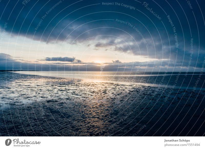 Norddeich I Umwelt Natur Luft Wasser Himmel Wolken Sonnenaufgang Sonnenuntergang Klima Küste Strand Nordsee Meer Beginn Ende Endzeitstimmung Religion & Glaube