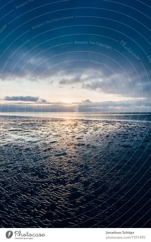 Norddeich II Natur Wasser Himmel Himmel (Jenseits) Wolken Sonnenuntergang Küste Strand Nordsee Meer Endzeitstimmung Religion & Glaube untergehen blau Dämmerung